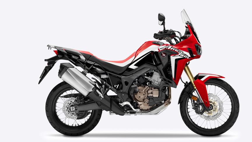 vista lateral da Africa Twin