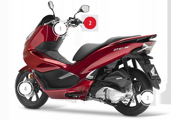 honda pcx125 scooters honda motos motos e scooters de 125 cc. Black Bedroom Furniture Sets. Home Design Ideas